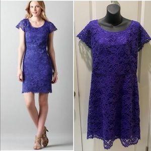 Loft Violet Lace Sheath Dress